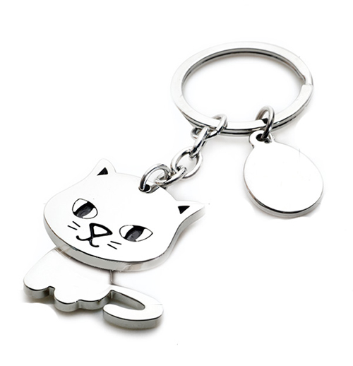 AK0278-rotating cat keychain