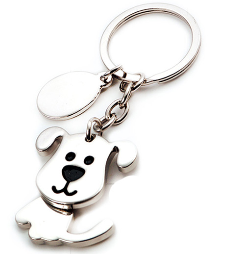 AK0276-rotating dog keychain