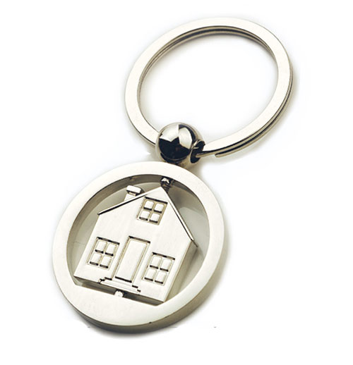 AK0210-house rotating keychain