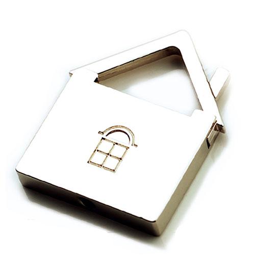 AK0214-house keychain