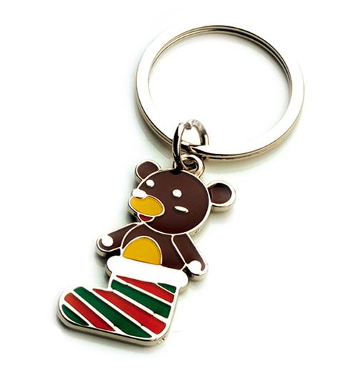 AK0439-socks bear  keychain