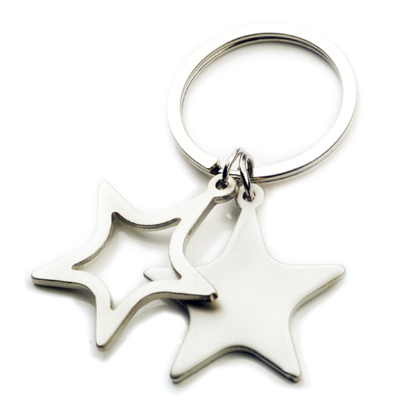 AK0598-two star keychain