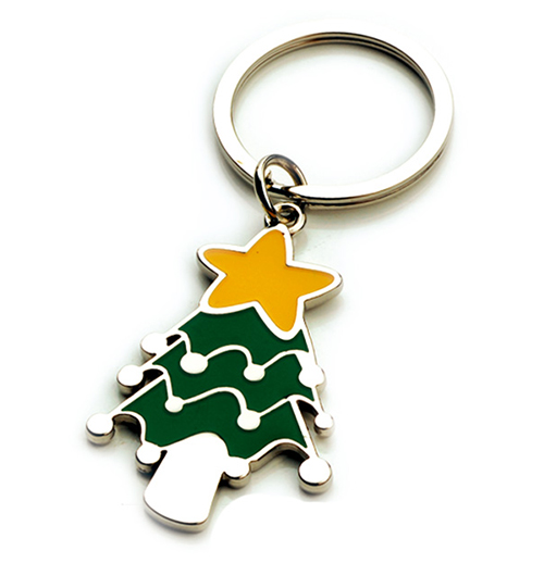 AK0437-christmas tree  keychain