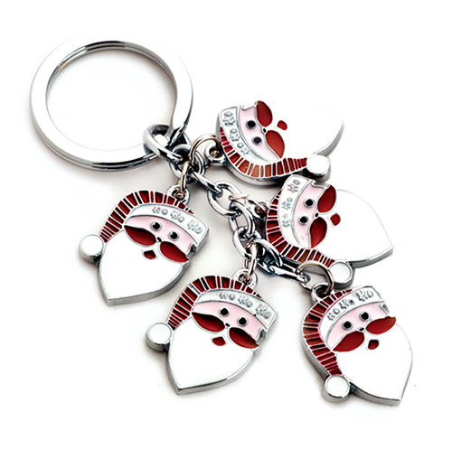 AK0441-Father Christmas charms keychain