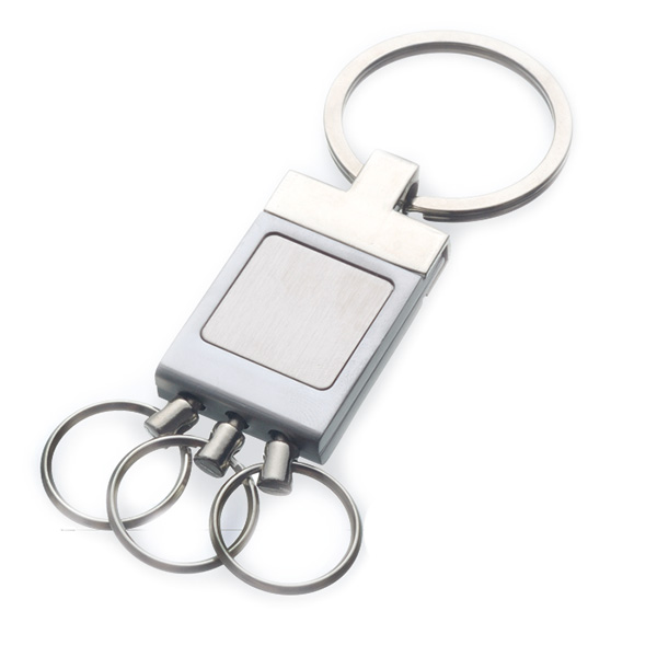 AK0022-retangle multi-ring keychain