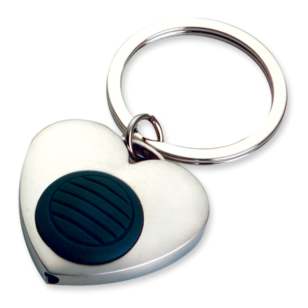 AK0337-heart shape led keychain