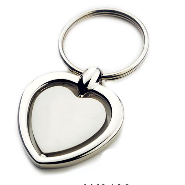 AK0138-heart  spinning keychain