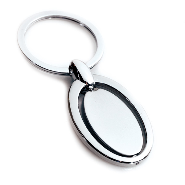 AK0139-oval  spinning keychain