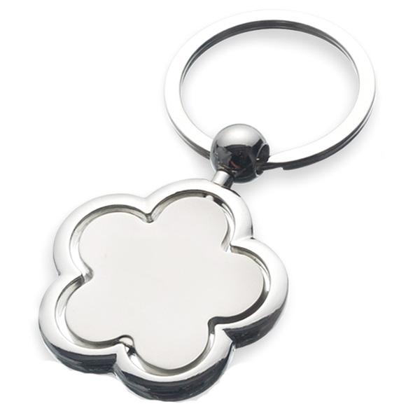 AK0133-flower spinning keychain