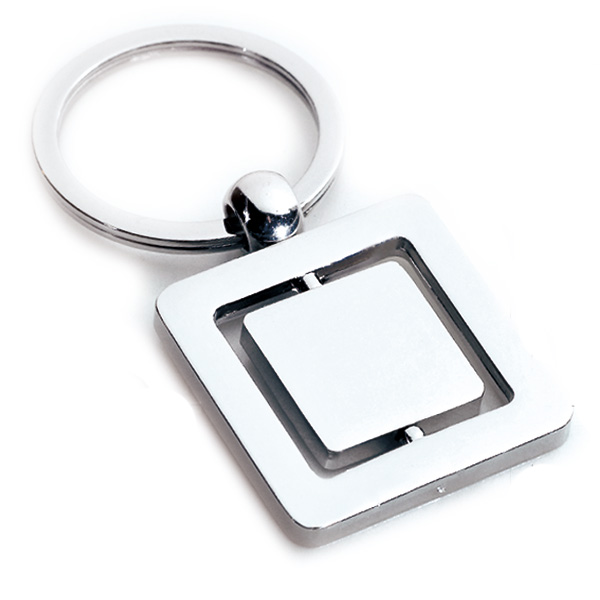 AK0141-square spinning keychain