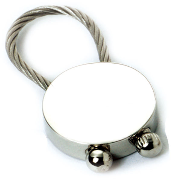 AK0042-round wire-ring keychain