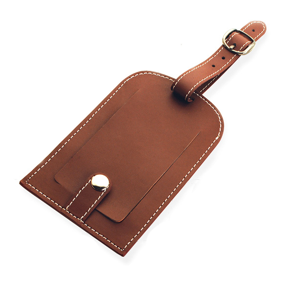 AK1097- leather luggage tag